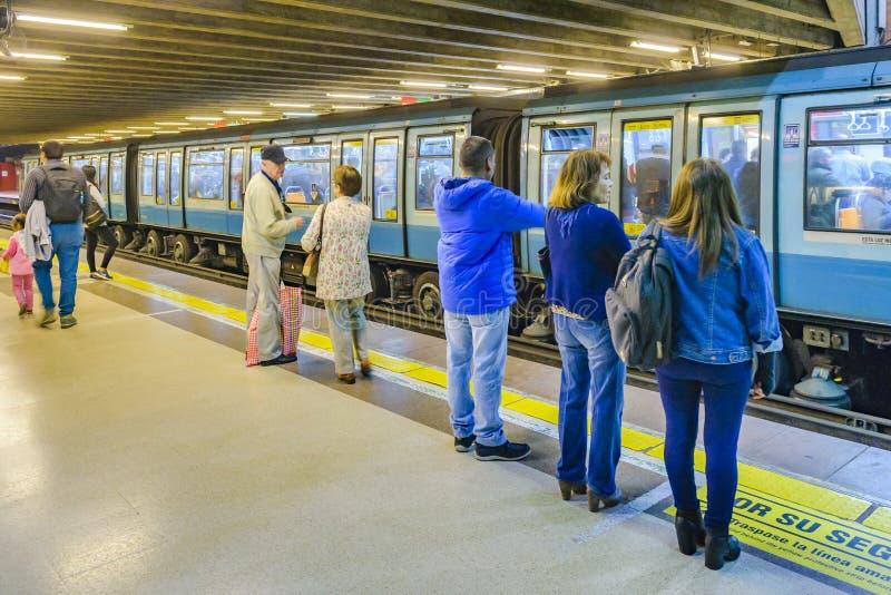 Santiago de Chile Subway royalty free stock photography