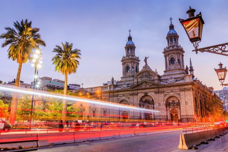 Santiago de Chile, Chile. Plaza de las Armas square in Santiago de Chile stock images