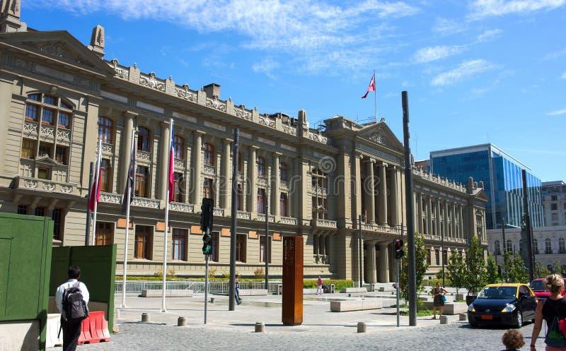 Santiago de Chile - presidentpalatset - I - royaltyfri bild