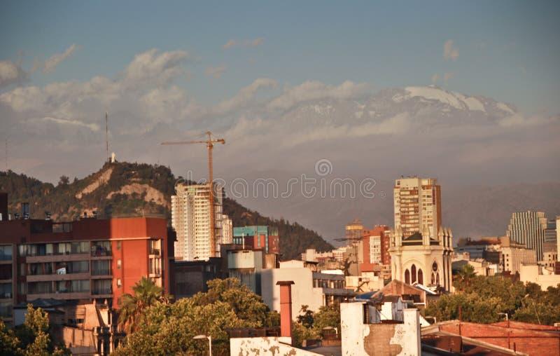 Santiago de Cile fotografie stock