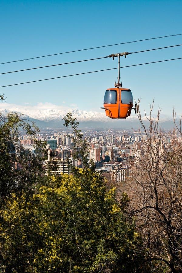 Santiago de Cile fotografia stock libera da diritti
