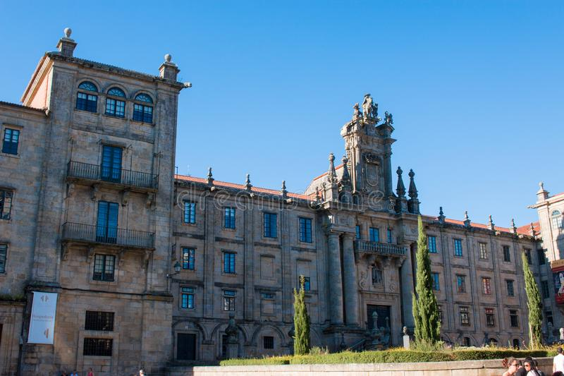 Santiago de Compostela é a capital de Spain's noroeste galão fotografia de stock