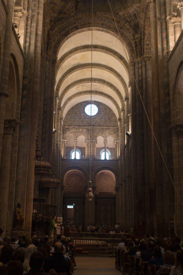 Santiago de Compostela é a capital de Spain's noroeste galão imagens de stock royalty free