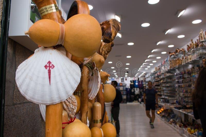 Santiago de Compostela é a capital de Spain's noroeste galão imagem de stock royalty free