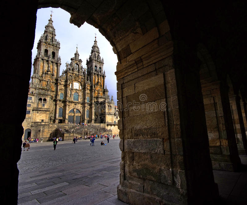 Santiago de Compostela imagen de archivo libre de regalías