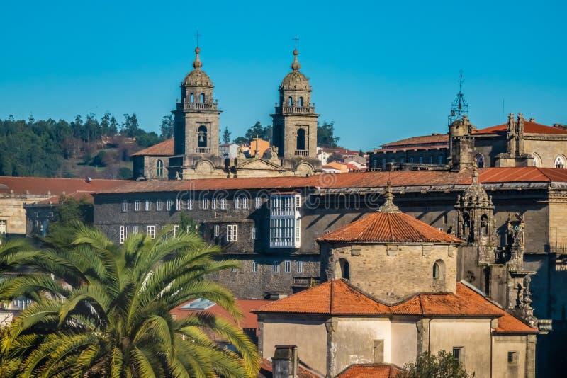Santiago de Compostela, capitale de la Galicie, Espagne Site du tombeau de Saint James le grand, maintenant sa cathédrale, la des images libres de droits