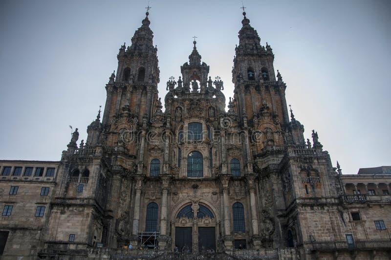 Santiago DE Compostela Cathedral royalty-vrije stock foto's