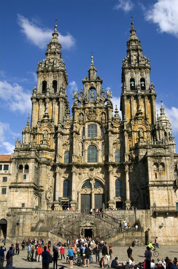 Santiago de Compostela Cathedral, Galicia, Spain stock photos