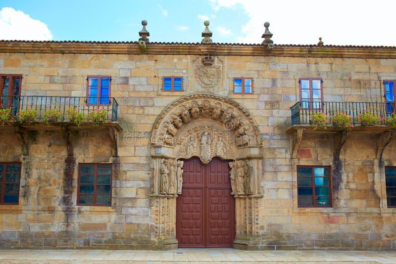 Santiago de Compostela-eind van Heilige James Way stock afbeelding
