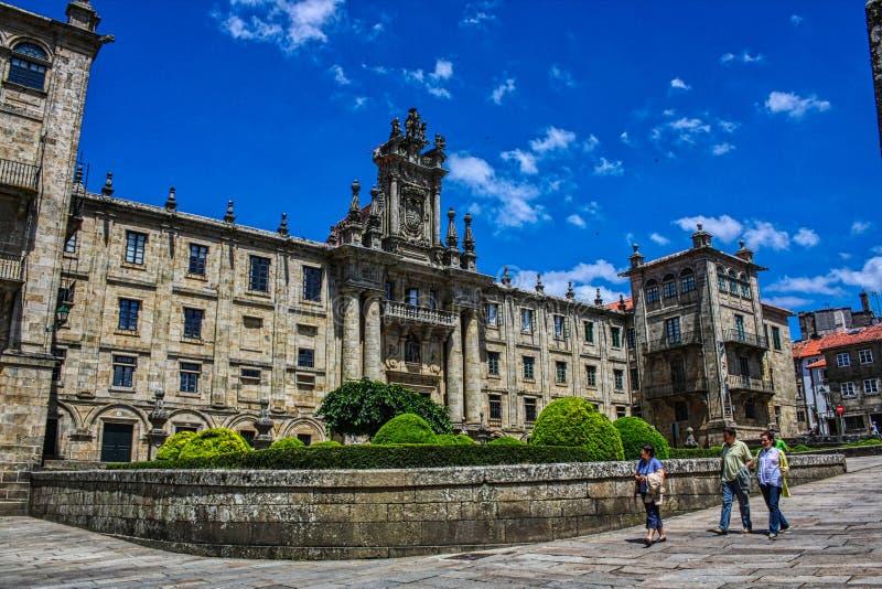 Santiago de Compostela, Espa?a Monasterio de St Martin Pinario imagen de archivo