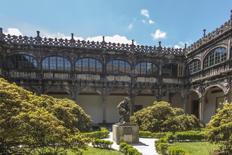 Santiago de Compostela, Galizien, Spanien, am 14. Juni 2018: Statue von lizenzfreie stockfotografie