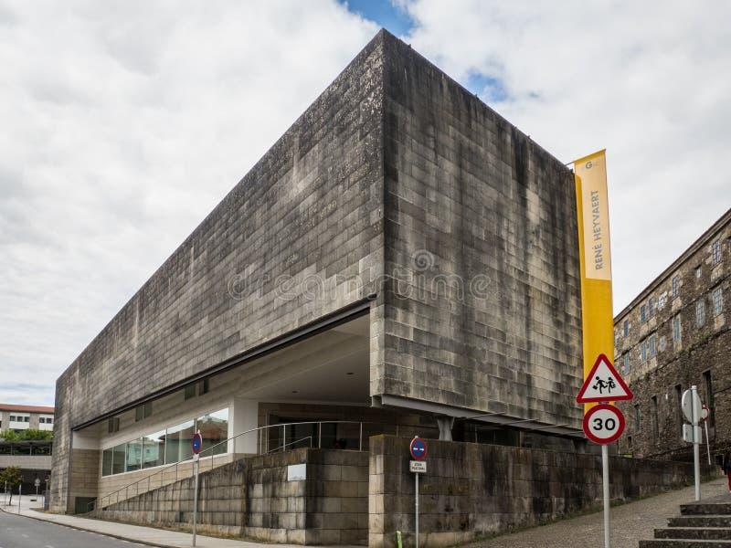 Santiago de Compostela - galizische Mitte des Gebäudes der zeitgenössischen Kunst in Santiago de Compostela - Spanien lizenzfreie stockbilder