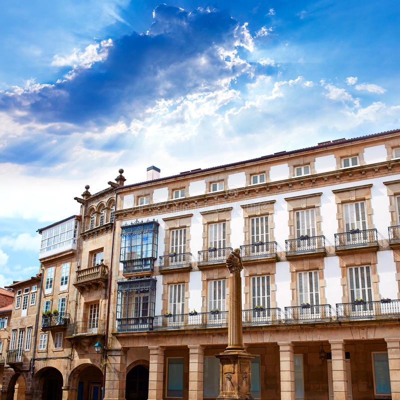 Santiago De Compostela końcówka świętego James sposób zdjęcie stock