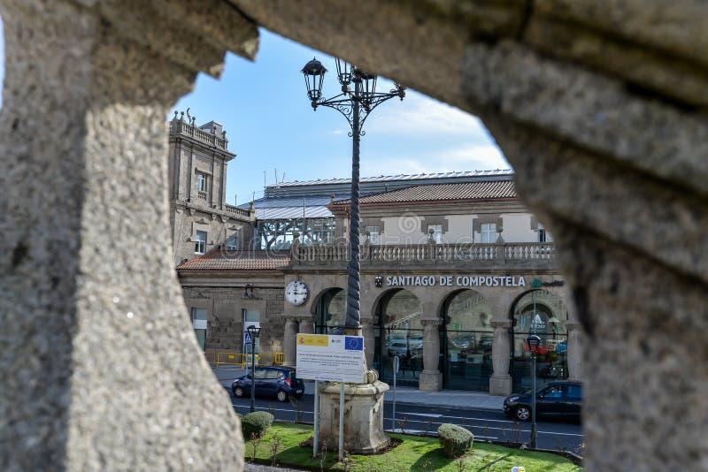 Santiago de Compostela - Spanje stock afbeelding