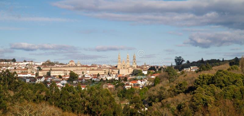 Santiago de Compostela-Stadtbild stockfoto