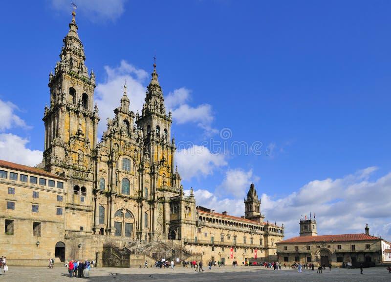 Santiago- de Compostelakathedrale stockfotografie
