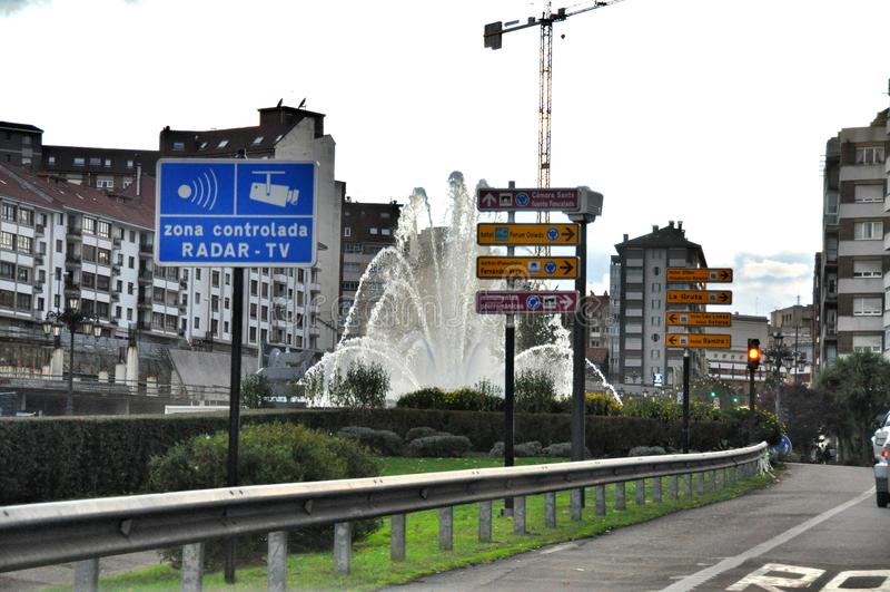 Santiago DE Compostella Galicië spanje stock foto's