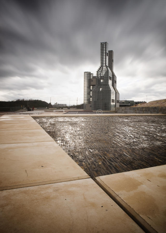 SANTIAGO DE COMPOSTTELA, SPAIN - NOVEMBER 13: Hejduk Towers On N Editorial Photo