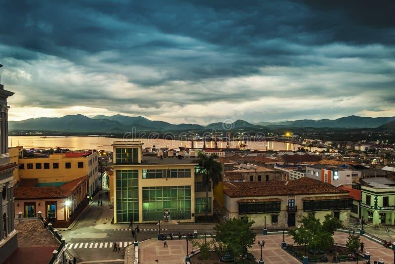 Santiago de Cuba dawn royalty free stock photos