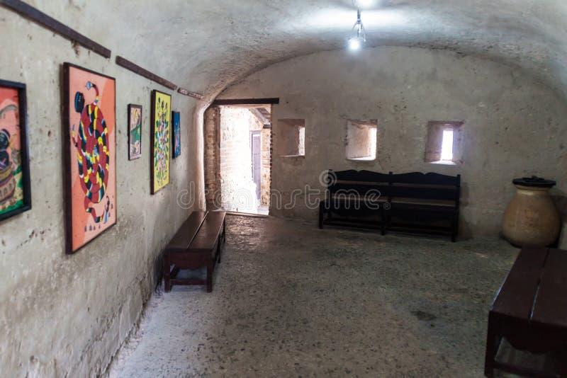 SANTIAGO DE CUBA, KUBA - 1. FEBRUAR 2016: Innenraum des Schlosses San Pedro de la Roca del Morro, Santiago de Cuba, CUB stockbild