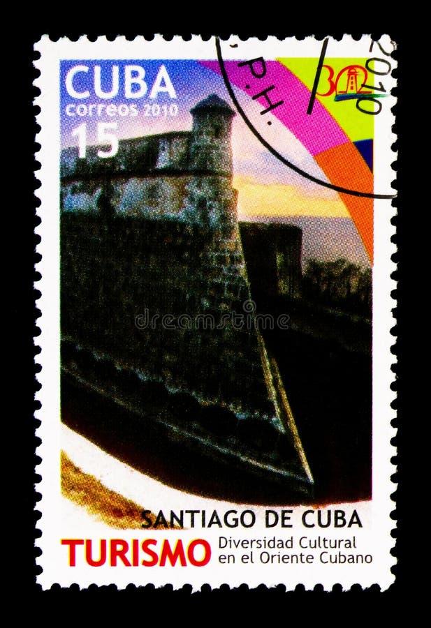 Santiago de Cuba, serie do turismo, cerca de 2010 foto de stock royalty free