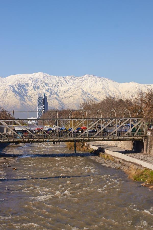 Santiago in der Winterzeit stockbilder