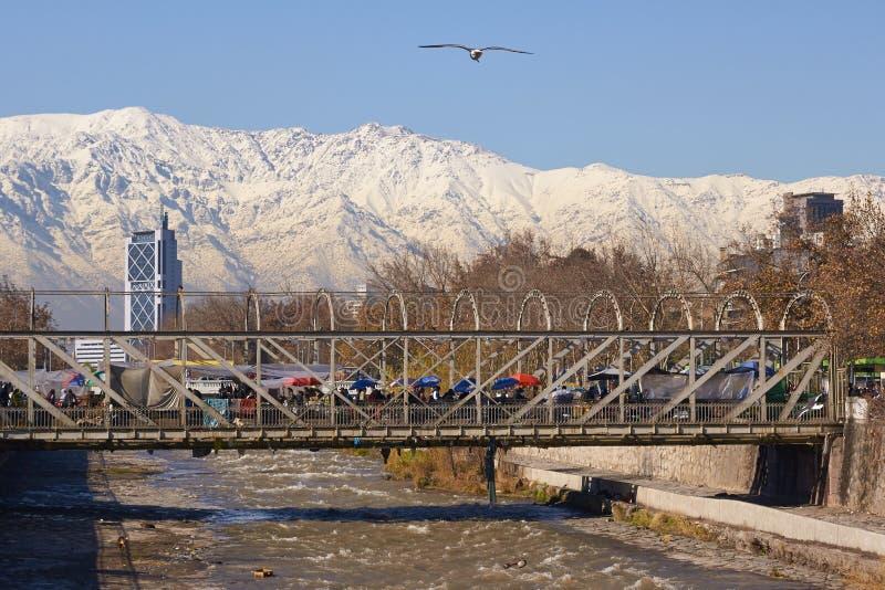 Santiago in der Winterzeit lizenzfreie stockbilder