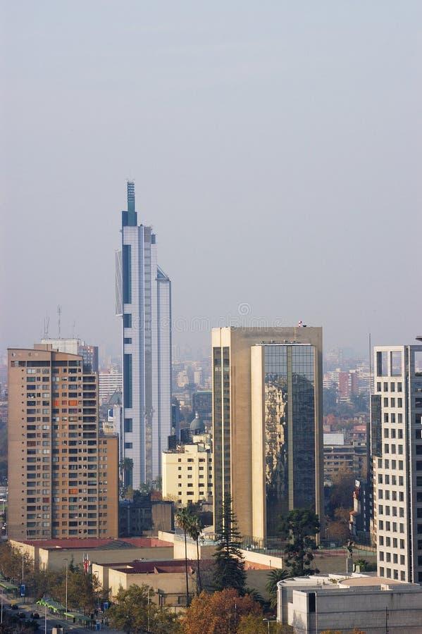 Santiago do Chile, edifícios na plaza Italia fotos de stock royalty free