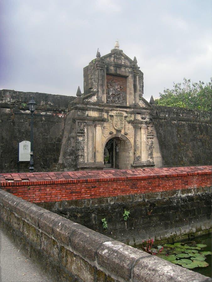 Santiago do forte em Manila, Filipinas foto de stock