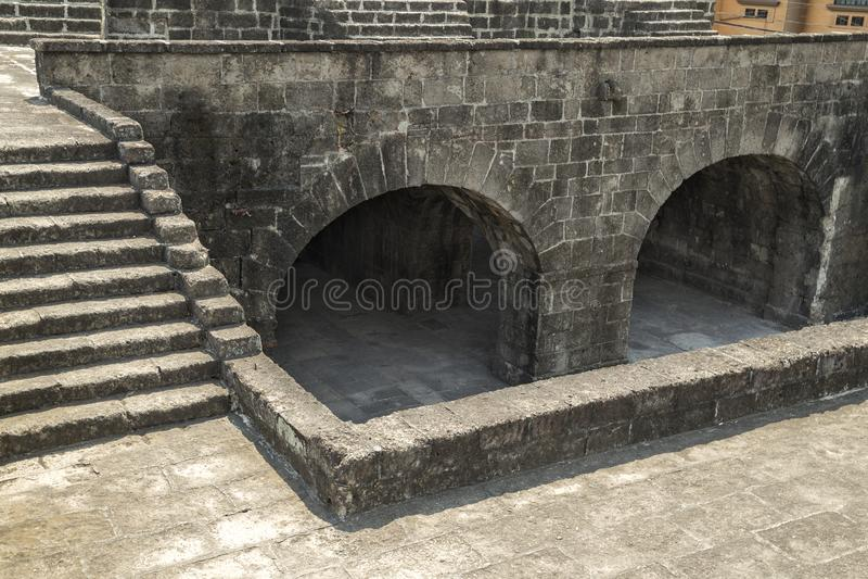 Santiago do forte, intra muros, Manila, Filipinas imagem de stock royalty free