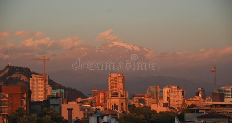 Santiago faz o Chile imagem de stock royalty free