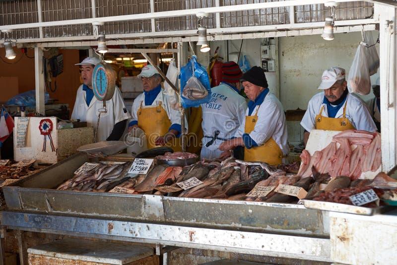 Santiago Fish Market royaltyfria foton