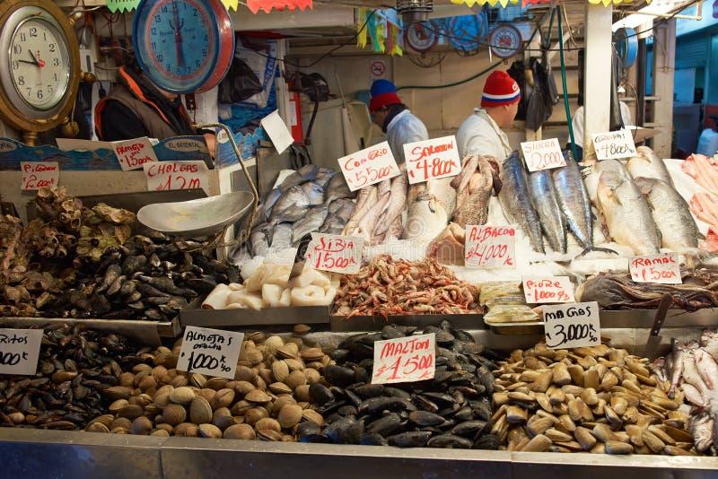 Santiago Fish Market arkivbild