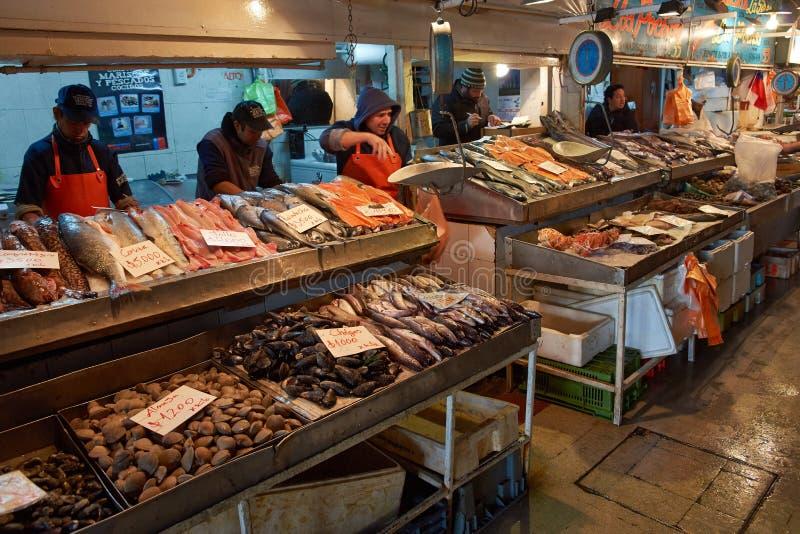 Santiago Fish Market imagem de stock royalty free