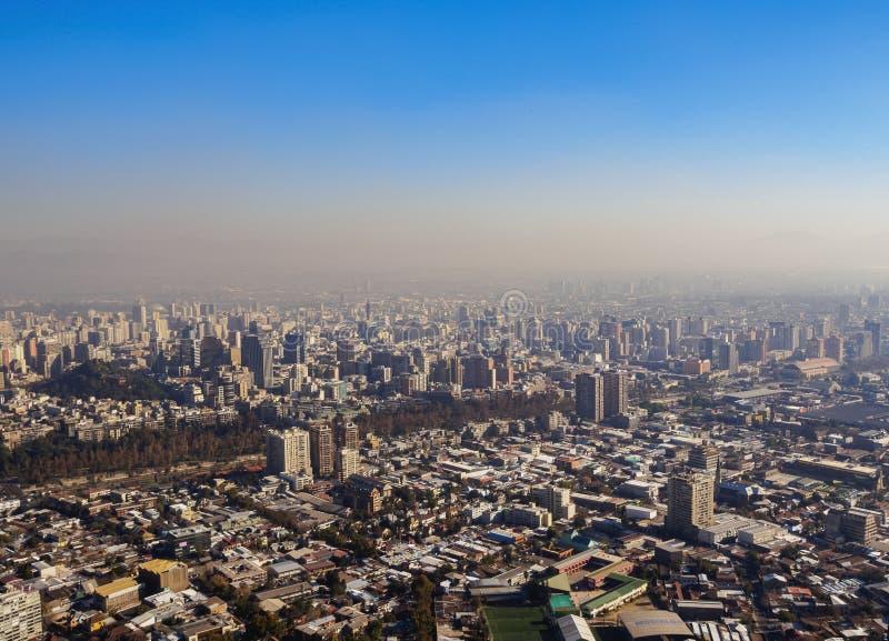 Santiago font le Chili image stock