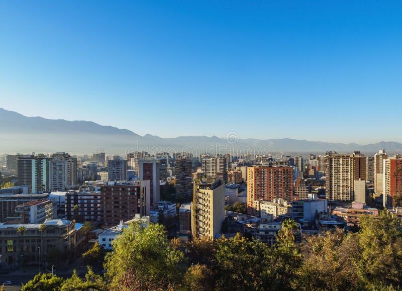 Santiago font le Chili photographie stock