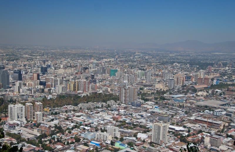 Santiago font le Chili images libres de droits