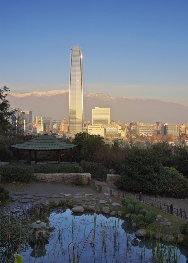 Santiago font le Chili image libre de droits