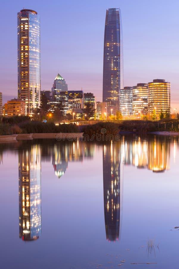 Santiago hace Chile imagenes de archivo
