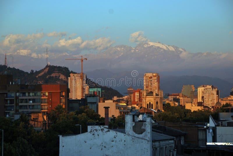 Santiago hace Chile imagen de archivo libre de regalías