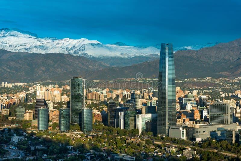 Santiago hace Chile fotografía de archivo