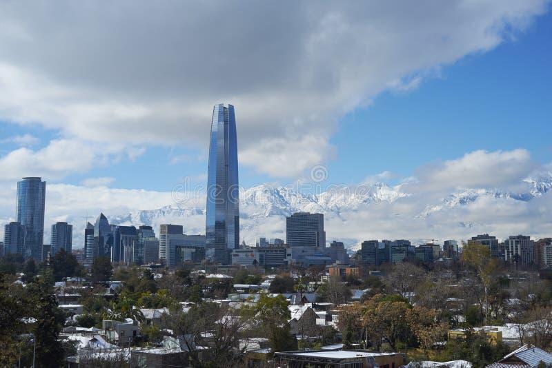 Santiago im Winter stockfoto