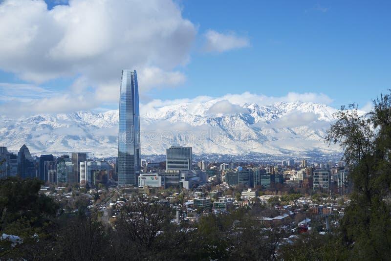Santiago im Winter stockfotos