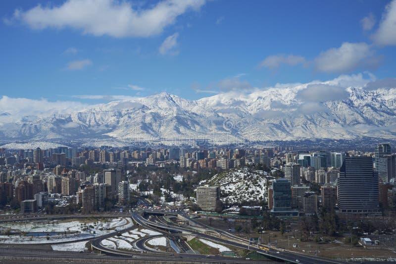 Santiago im Winter stockbilder