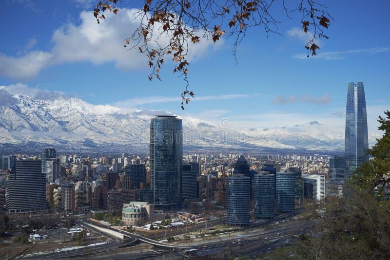Santiago im Winter lizenzfreie stockfotos