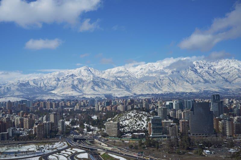 Santiago im Winter lizenzfreies stockfoto
