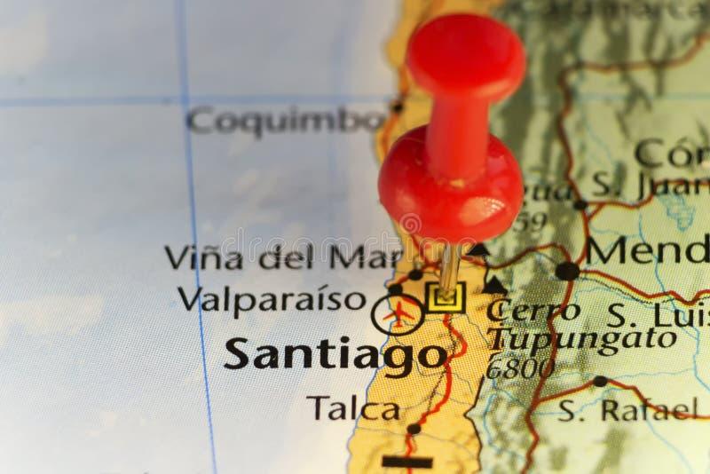 Santiago kapitał Chile ilustracji
