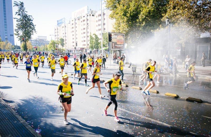 Santiago Marathon stock afbeeldingen
