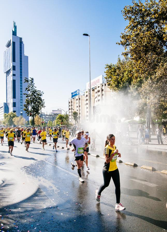 Santiago Marathon royalty-vrije stock fotografie