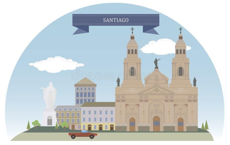 Santiago, o Chile ilustração stock